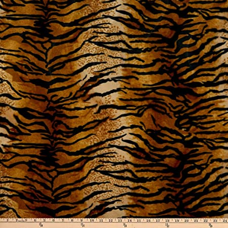ivory brown gold fat quarter  half yard quilting fabric Animal print THP113 DV1 HALF YARD Quilt cotton fabric Leopard