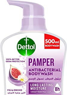 Dettol Pamper Showergel & Bodywash for effective Germ Protection & Personal Hygiene (protects against 100 illness causing ...