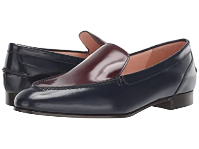 J.Crew Two Color No Tab Academy Loafer (Navy) Women