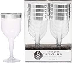 Premium Plastic Glasses Silver Supply