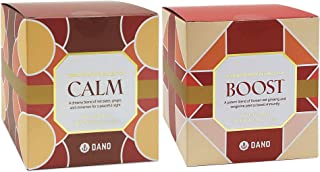 Dano Boost & Calm Tea Bundle, Natural Energy Booster and Sleep Aid, Korean Herbal Remedy for Daily Immune Support, Caffein...