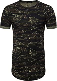 687cf79742058 YJYdada Men s Casual Camouflage Print O Neck Pullover Long T-Shirt Top  Blouse