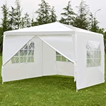 Tangkula 10'x10' Canopy Party Wedding BBQ Tent Heavy Duty Gazebo Shelter Pavilion Cater Event Outdoor with Side Walls