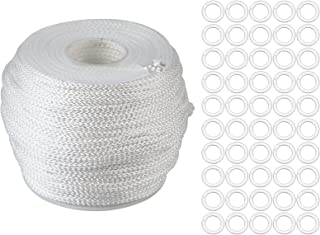 Healifty Clear Roman Blind Curtain Rings and Lift Shade Cord for Aluminum Blind Shade Repair and DIY Crafts Projects