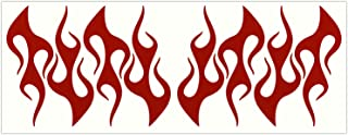 LiteMark Reflective 4 Inch Flames Sticker Decals for Helmets, Bicycles, Strollers, Wheelchairs and More - Pack of 8