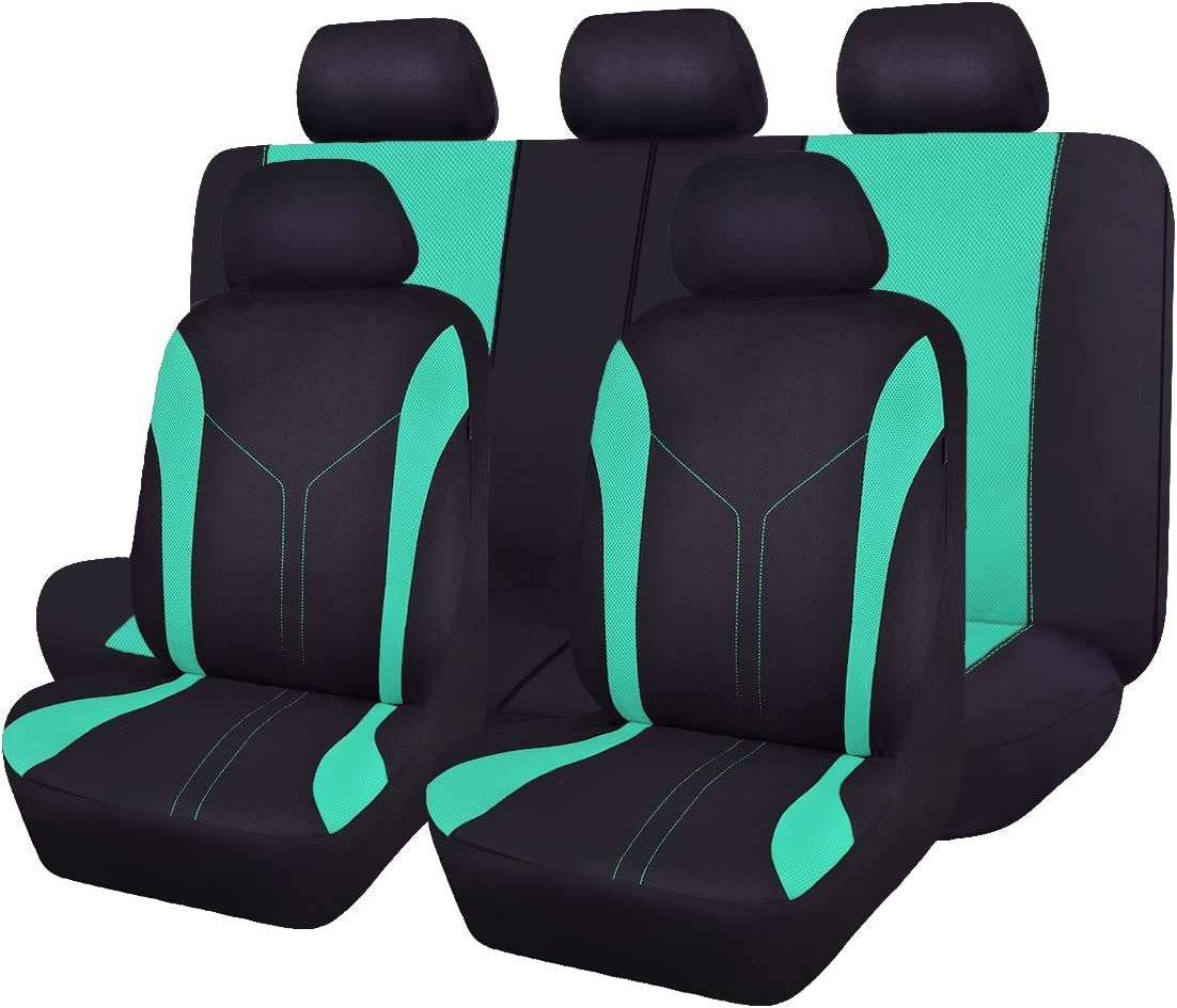 Flying Banner Car Seat Covers Full Set Fashion Sporty Mesh Universal Fit...
