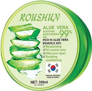 Roushun 99 Percent Aloe Vera Face and Body Gel, 300 ml