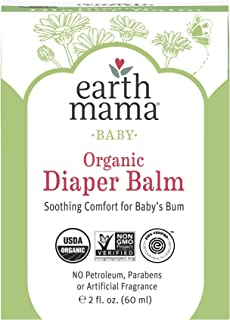 Organic Diaper Balm by Earth Mama   Safe Calendula Cream to Soothe and Protect Sensitive Skin, Non-GMO Project Verified, ...