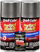 Dupli-Color Dark Shadow Gray Exact-Match Automotive Paint for Ford Vehicles - 8 oz, Bundles with Prep Wipe (3 Items)