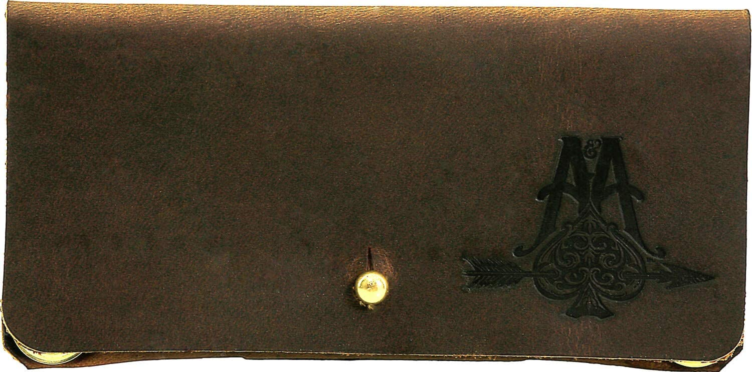 Sunglasses Case, Leather with Loop Closure - Brown