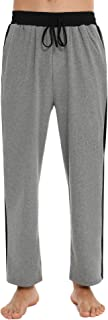 Akalnny Pantalones de Pijama Hombre Algodón Pantalón Chandal de Estar por Casa Largo Cintura Elástica Suelto Casual