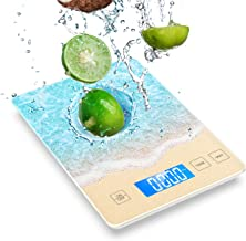Nicewell 22lb/10kg Food Scale, Digital Kitchen Scale Measures Grams and Ounces, Beautiful Beach with Water Resistant Tempe...