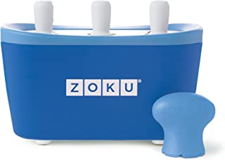 Zoku Quick Pop Maker, Make Popsicles in as Little as 7 Minutes on your Countertop, Blue