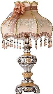 Lampe de Table Abat-jour en tissu de dentelle blanche translucide marron marron mosa?que jaune pendentif pompon en résine ...