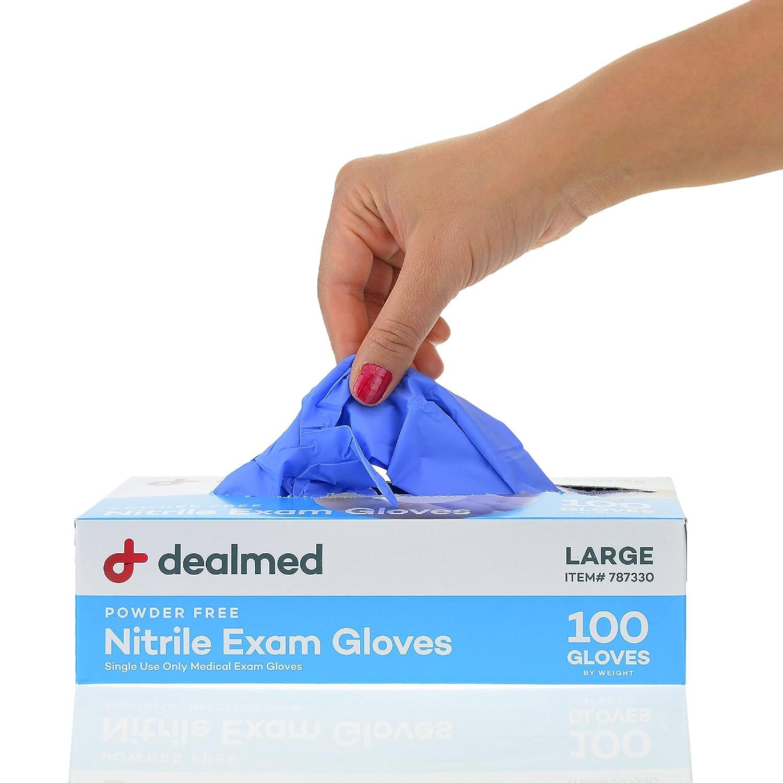 Dealmed Medical Ranking TOP7 Superlatite Exam Gloves – Nitrile Glove 100 Large Count
