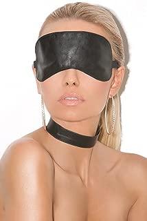 Leather Blindfold Eye Mask Role Play Fantasy Accessory Black