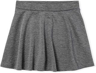 21Fashion Girls Kids School Uniform Box Pleated Elasticated Waist Skirt 13-14 Years, Bottle Green