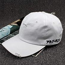 ZHXMI Moda Creativa Piercing Ring Gorra de béisbol Punk Gorras Bone Masculino Feminino Basebol Hiphop Base Ball Caps Unisex