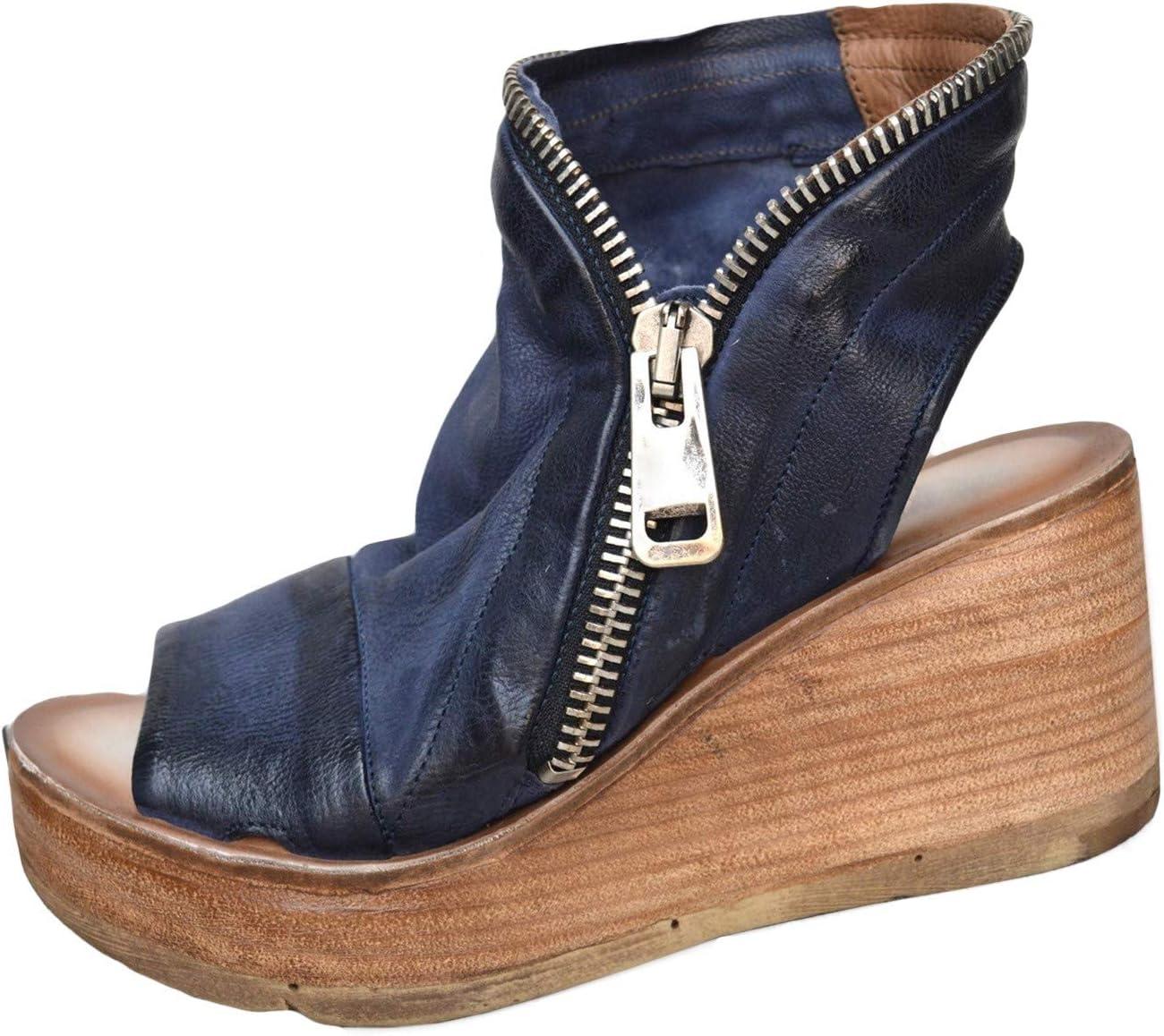 Pursue 新品 送料無料 Sandals for Women Dressy Open Zipper Platform S Ankle Toe ☆最安値に挑戦