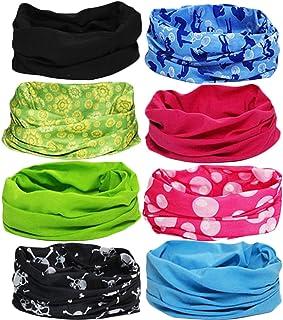 b95a96d8f75bb kilofly Multi-purpose Seamless Headwear Bandanas Mixed Set Value Pack  Set  of 8