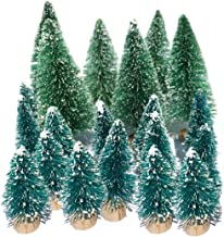 Small Flocked Artificial Christmas Tree Snow Globe Décor Cute Unique Mini Frosted Bottle Brush Trees Pretty Little Holiday...