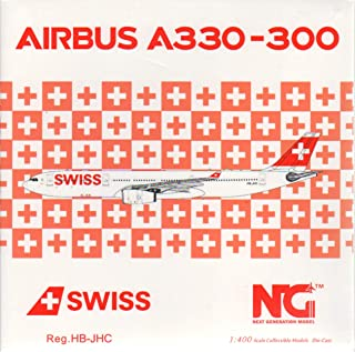 NG Model NGM62001 1:400 Swiss International Airlines Airbus A330-300 Reg #HB-JHC (pre-Painted/pre-Built)