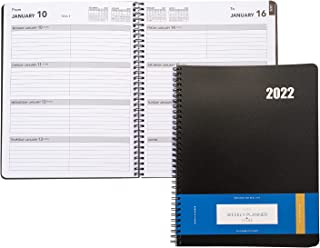$24 » Delane Weekly Planner 2022 - Spiral Bound Hourly Appointment Book – 12 Month Academic Planner - Schedule Your School or Bu...