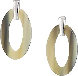 Horn Link Drop Earrings