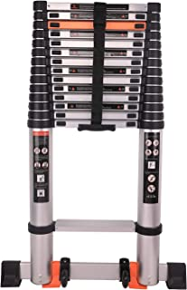 Telescoping Ladder Extension Multi-Purpose Aluminum Foldable Industrial Compact Loft Ladder Household Daily or Emergency Use Portable Extendable Step Ladders 330 lb Large Loading Capacity (18.5FT)