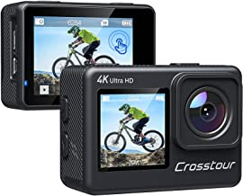 Action Camera 4K 24MP Dual Touch Screen Underwater Cam...