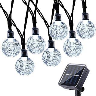 comprar comparacion Qedertek Guirnaldas Luces Exterior Solar, Cadena de Bola Cristal Luz para Exterior, 9M 50 LED, Guirnalda Luminosa Impermea...