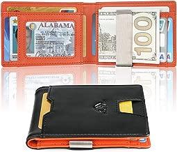 Money Clip Wallet Slim Front Pocket Wallet For Men RFID Blocking Cards Holder Wallets Billfold Men Wallets with Gift Box