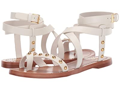 Tory Burch Ravello Studded Ankle-Wrap Sandal (Perfect Ivory) Women