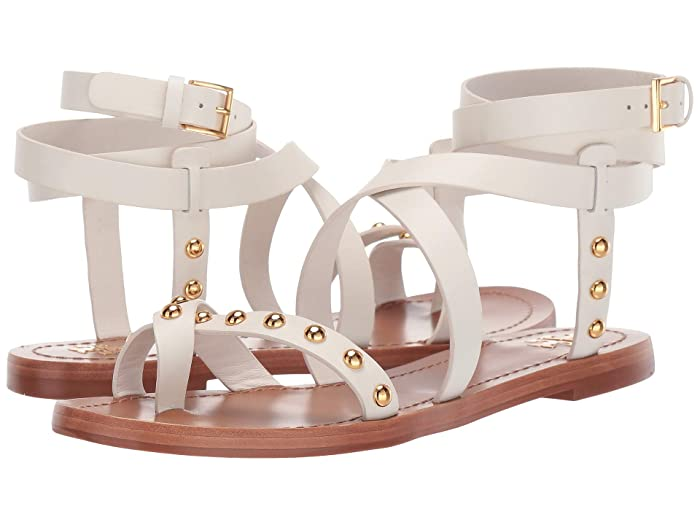 72de9f1d3615 Tory Burch Ravello Studded Ankle-Wrap Sandal at Zappos.com