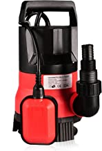 1/2 HP Submersible Pump 110V/60Hz Clean/Dirty Submersible Water Pump Flood Drain Garden Pond Swimming Pool Pump (1/2 HP_Red)