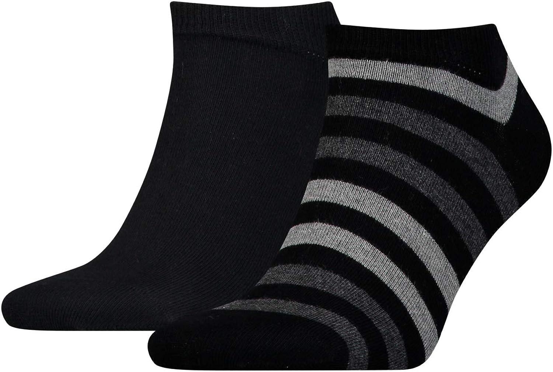 Tommy Hilfiger 2-Pack Duo Stripe Men's Trainer Socks, Navy/Red