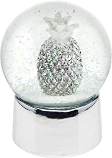 Philip Whitney Snow Globe Pineapple in Silver with Fruit Small