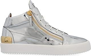 Luxury Fashion | Giuseppe Zanotti Design Men RM00020001 Silver Leather Hi Top Sneakers | Spring-summer 20