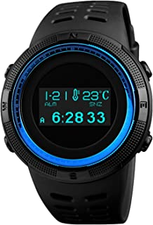 Sports Digital Men Multifunctional Watches Black Military Electronic Wirst Watch OLED Display