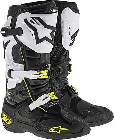 Tech 10 Boots (Black/White/Yellow, Size
