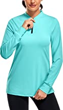 CHICHO Women Long Sleeve UPF 50+ Dry Fit Sun Protection Golf Tennis Shirt with Zipper Front
