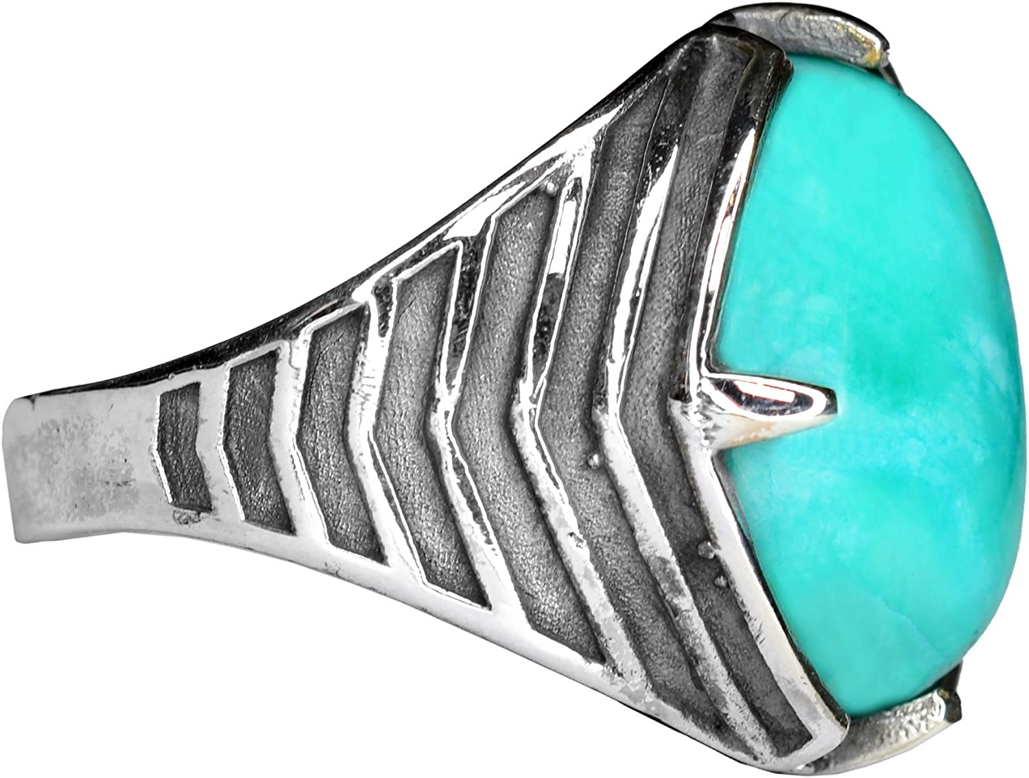 Sterling Silver Choice Men's Ring Chalsedony Express Gemstone Fees free Sh Free