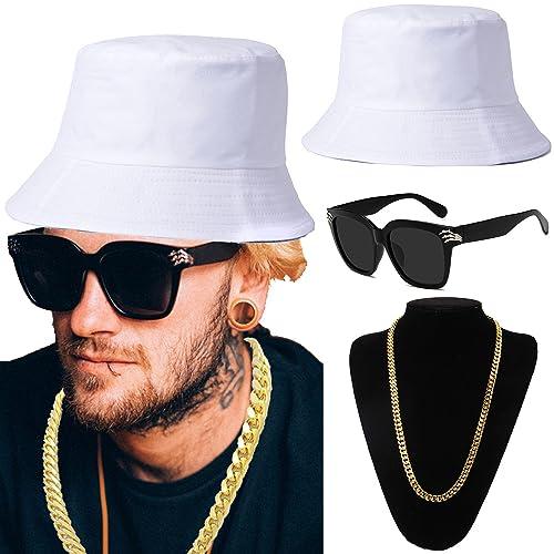 ZeroShop 80s 90s Hip Hop Costume Kit - Cotton Bucket Hat 67d332097