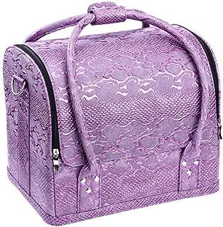 Large Make Up Bag Makeup Case Waterproof Makeup Organizer Toiletry Cosmetic Bag for Women (Color : Purple)