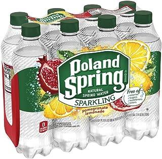 Poland Spring Sparkling Water, Pomegranate Lemonade, 16.9 oz. Bottles (Pack of 8)