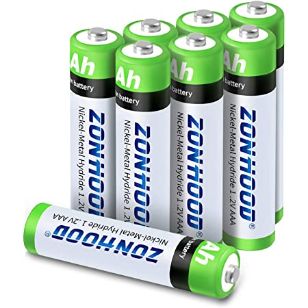 Amazon Com Rechargeable Aaa Batteries Aaa Batteries 1100mah High Capacity Rechargeable Batteries 1 2v Ni Mh Low Self Discharge Lasting Power Recharge Battery 8pack Electronics