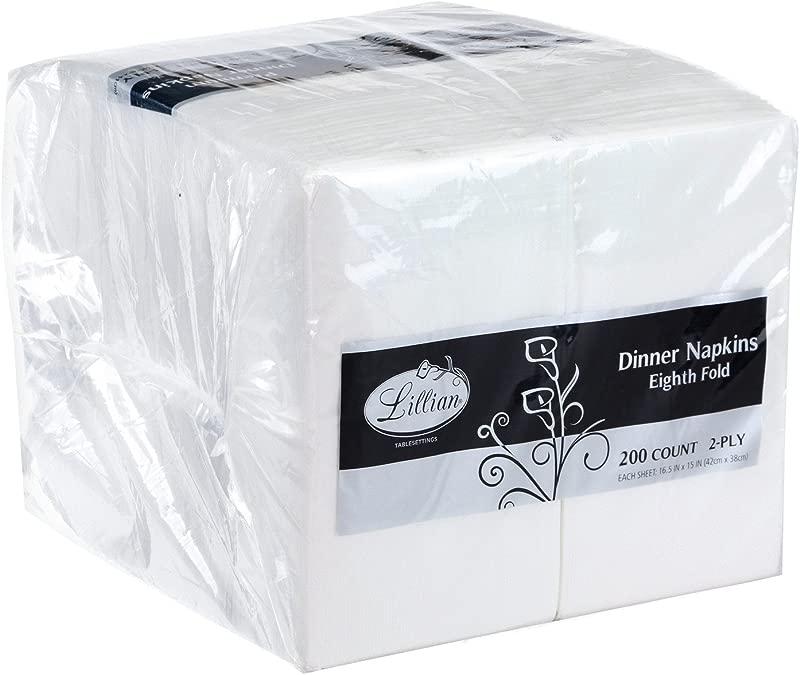 Premium White Napkins 1 8 Fold Dinner Napkin Value Pack 200 Count