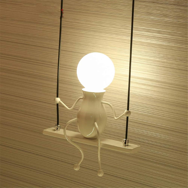ZOYNZ Kinder Wandleuchte Mode Wandleuchte Moderne Schlafzimmer Kreative Nachttischlampe Flur Gang Treppe Balkon Lampe (Wei)
