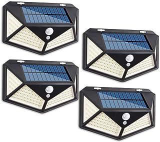 Gluckluz Solar Light Outdoor Motion Sensor Waterproof Lighting 114 LED Garden Security Lights for Wall Step Porch Patio Ya...