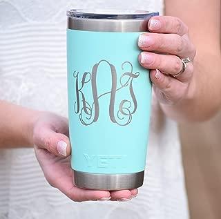 Monogrammed Yeti Additional Colors Available - Engraved Yeti Rambler - 20 oz Yeti - 30 oz Yeti - Personalized Yeti - Yeti Gift - Laser Engraved Yeti - Yeti Tumbler - Yeti Cup - Yeti Monogram